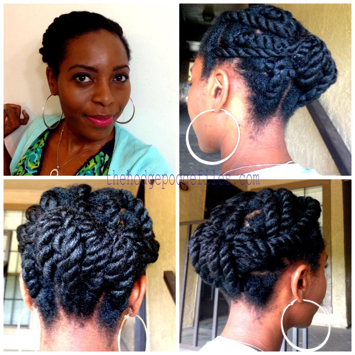 chunky twist pin-up | laid hair, beat face | natural hair