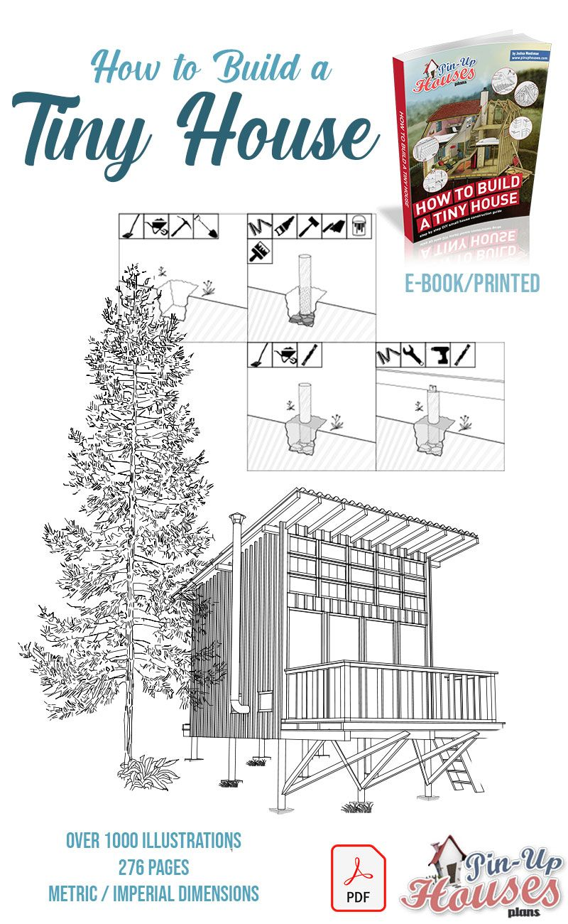 How To Build A Cabin Book E Book Building A Tiny House Small House Construction House