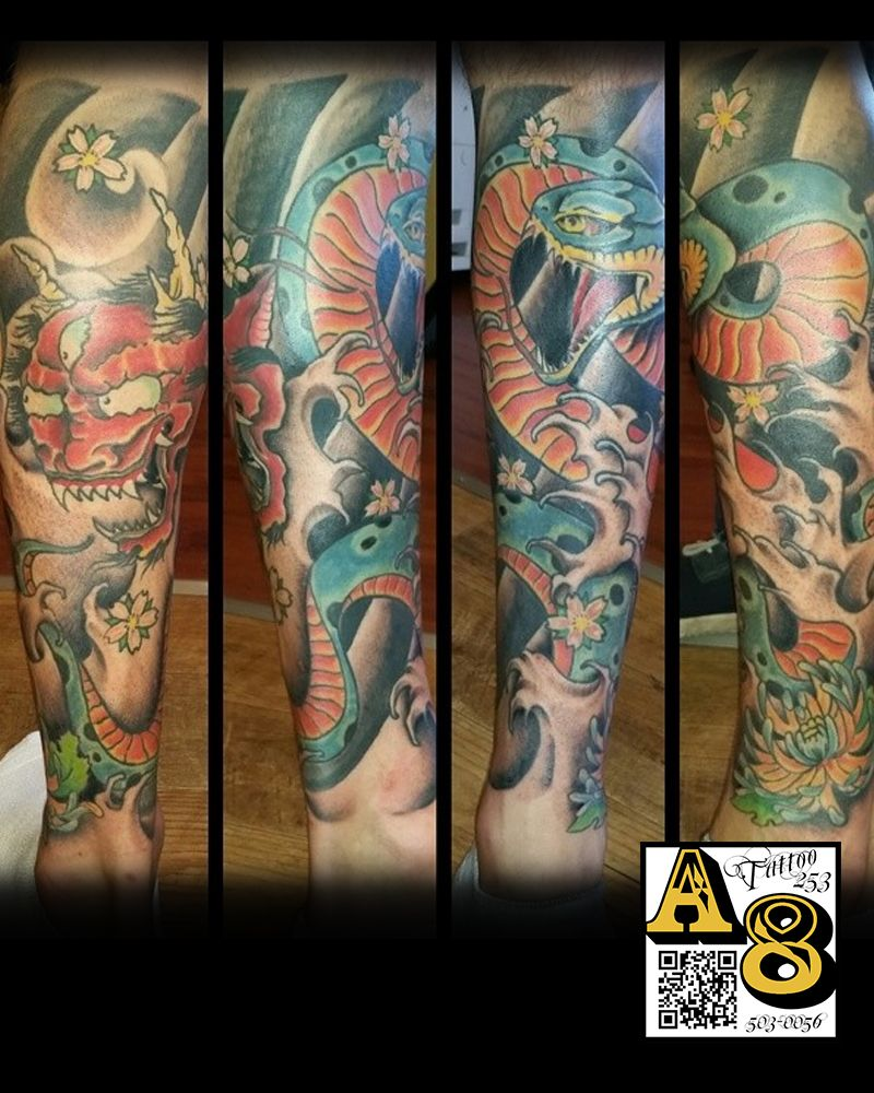 Leg_tattoo_japanese_ross_aces_n_eights_tattoo_in_lakewood