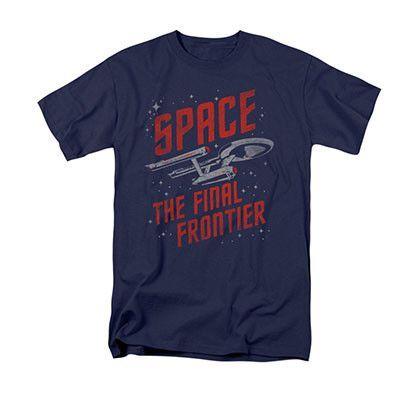Star Trek Space Travel Navy Blue T-Shirt