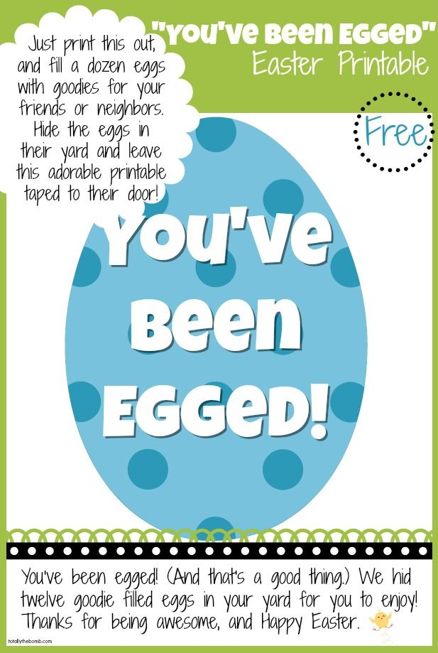 photograph relating to You've Been Egged Printable identified as Cost-free Youve Been Egged Easter Printable Baby Blogger