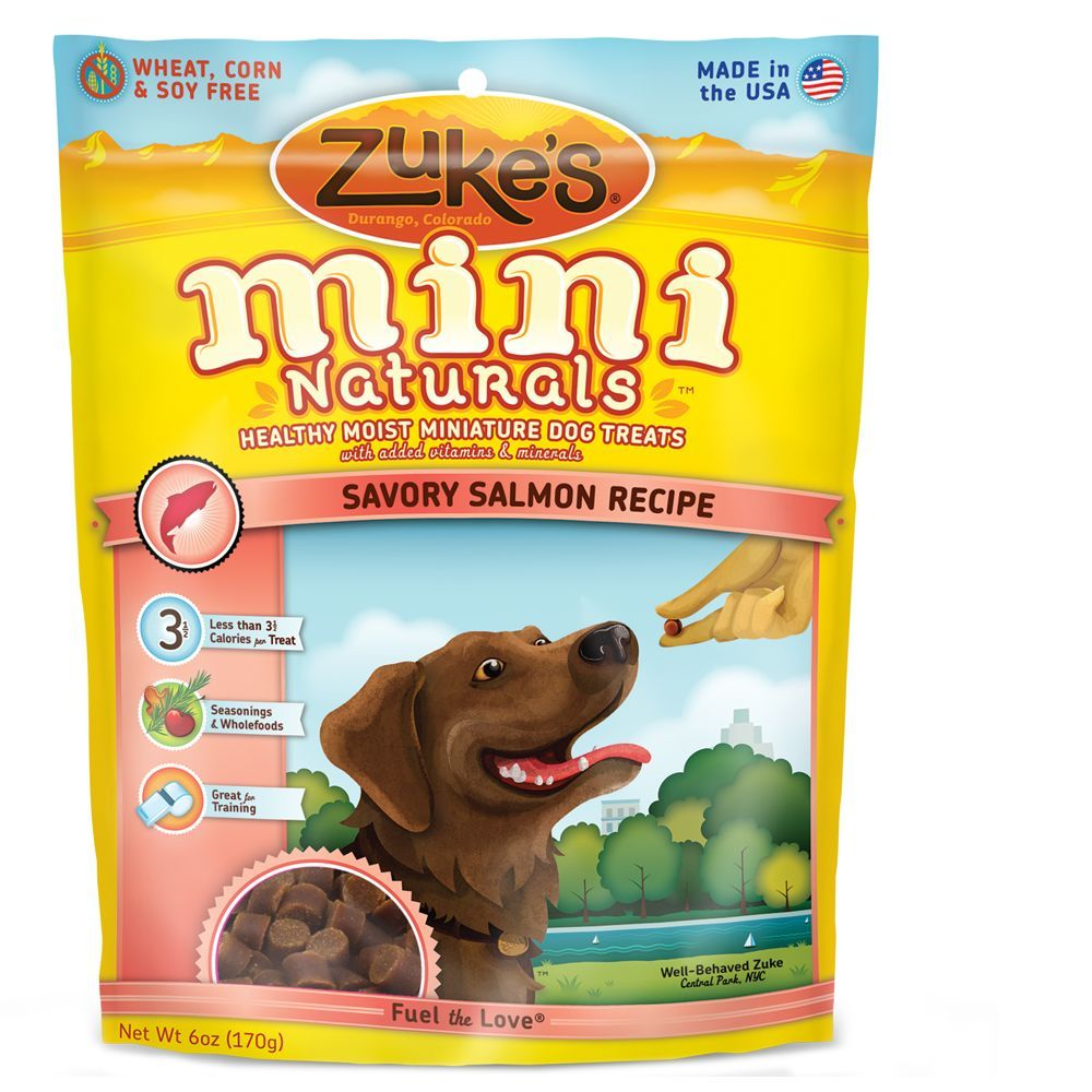Zuke S Mini Naturals Salmon Natural Training Dog Treat Size 6 Oz