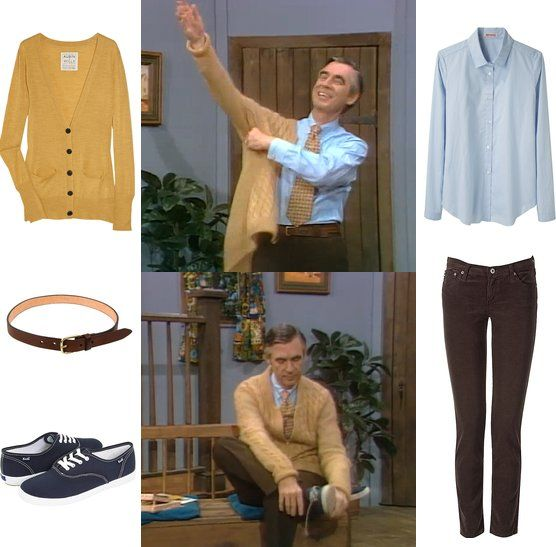 Back To School Geek Style Dress Like Mister Rogers Mr Rogers Geek Fashion Mr Rogers Costume
