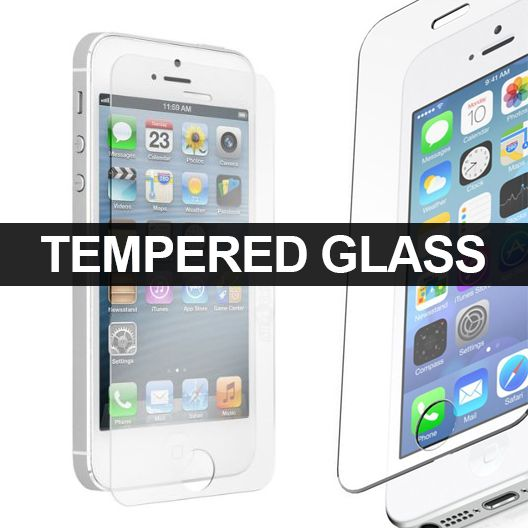 TEMPERED GLASS SCREEN PROTECTOR FOR IPHONE 5/5S - Our premium tempered glass screen protector is designed to protect your iPhone's screen from scratches, chips and other external damages. It offers maximum protection without losing any clarity or touch screen sensitivity. The 0.33mm thickness and 9H+ hardness creates and Anti-shatter film. Oleophobic coating can prevent fingerprints and oil stains, while making the screen easy to clean.