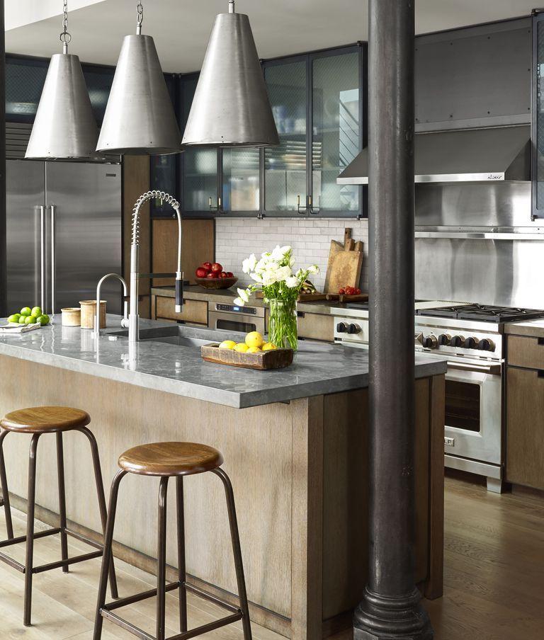 45 Ideen Fur Die Industrielle Kuchengestaltung Dekorations Design Industrial Decor Kitchen Industrial Kitchen Design Industrial Style Kitchen
