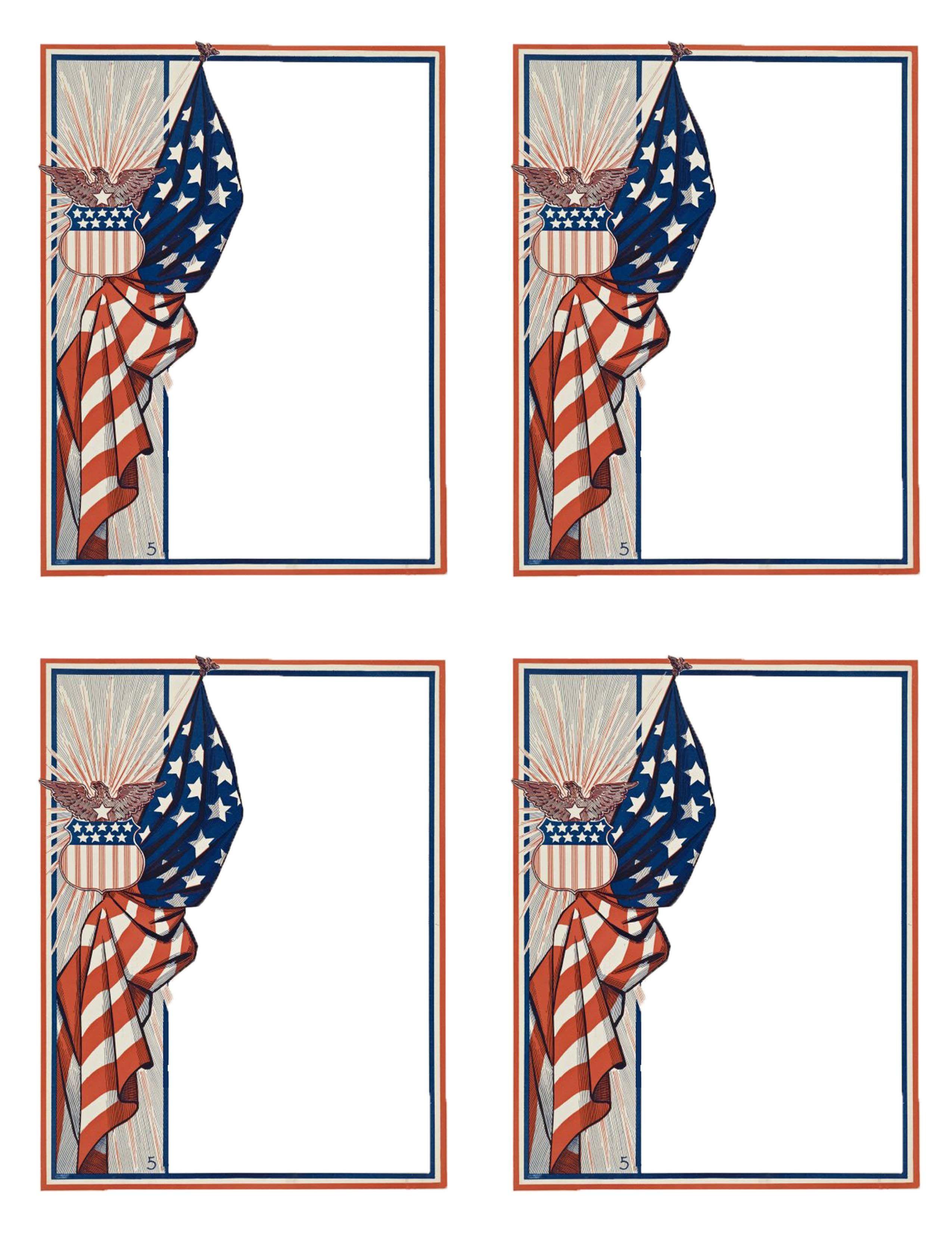 vintage flag border th of july memorial day veterans