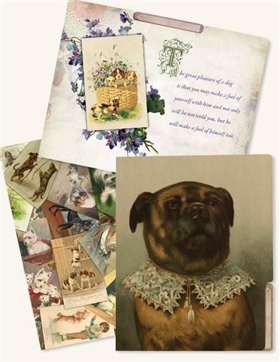 Trusted Companions Folders (Dog Set Of 6) Victorian