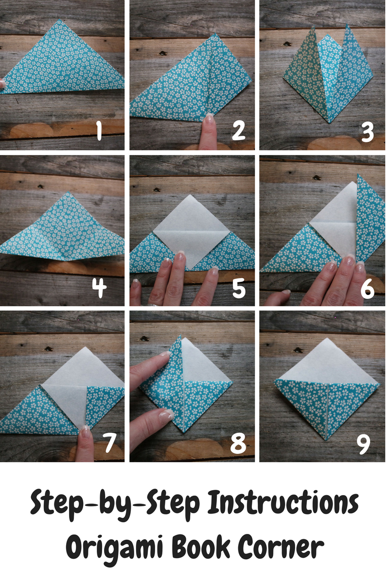 Take a Break with these easy diy origami book corners and ...