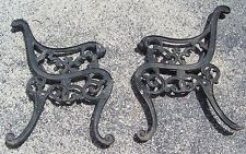 Antique Lion Head Cast Iron Park Bench Ends Thick Antiques