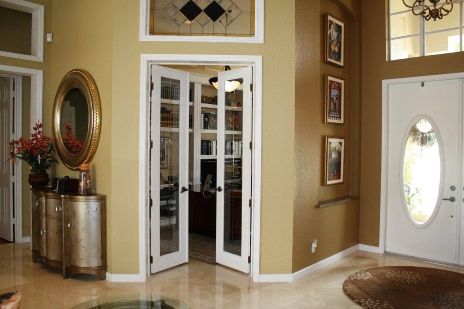 Attractive Color To Paint Interior Doors | Excellent Interior Room Design With  Stunning Etched Glass French Doors