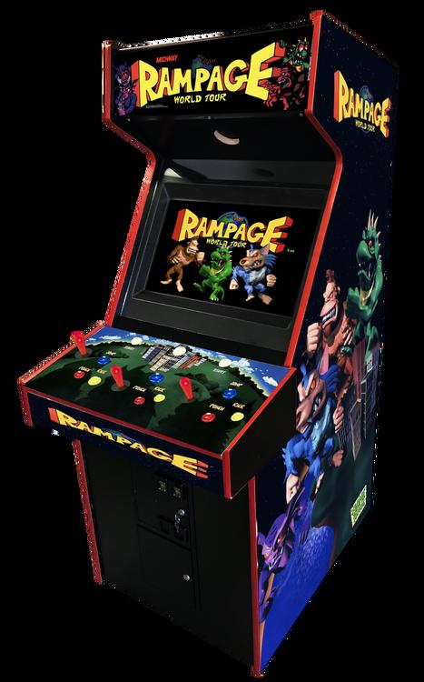 Rampage World Tour Arcade Video Game Arcade Game Room Arcade Arcade Video Games