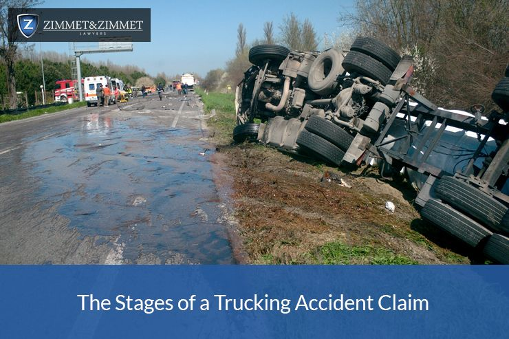 The Stages of a Trucking Accident Claim Trucks, Accident