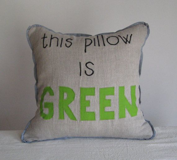 Linen Black Gray Green Letter Decorative Accent Throw Pillow Cover Cool Teenage Decorative Pillows
