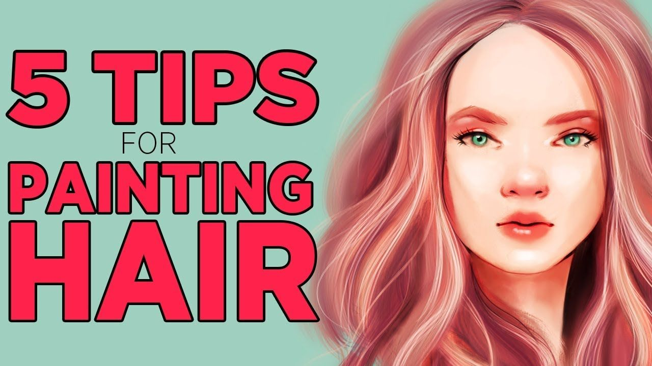 5 Tips And Tricks For Drawing Hair Digital Art In Photoshop And Procreate How To Draw Hair Photoshop Hair Tutorial Hair Painting