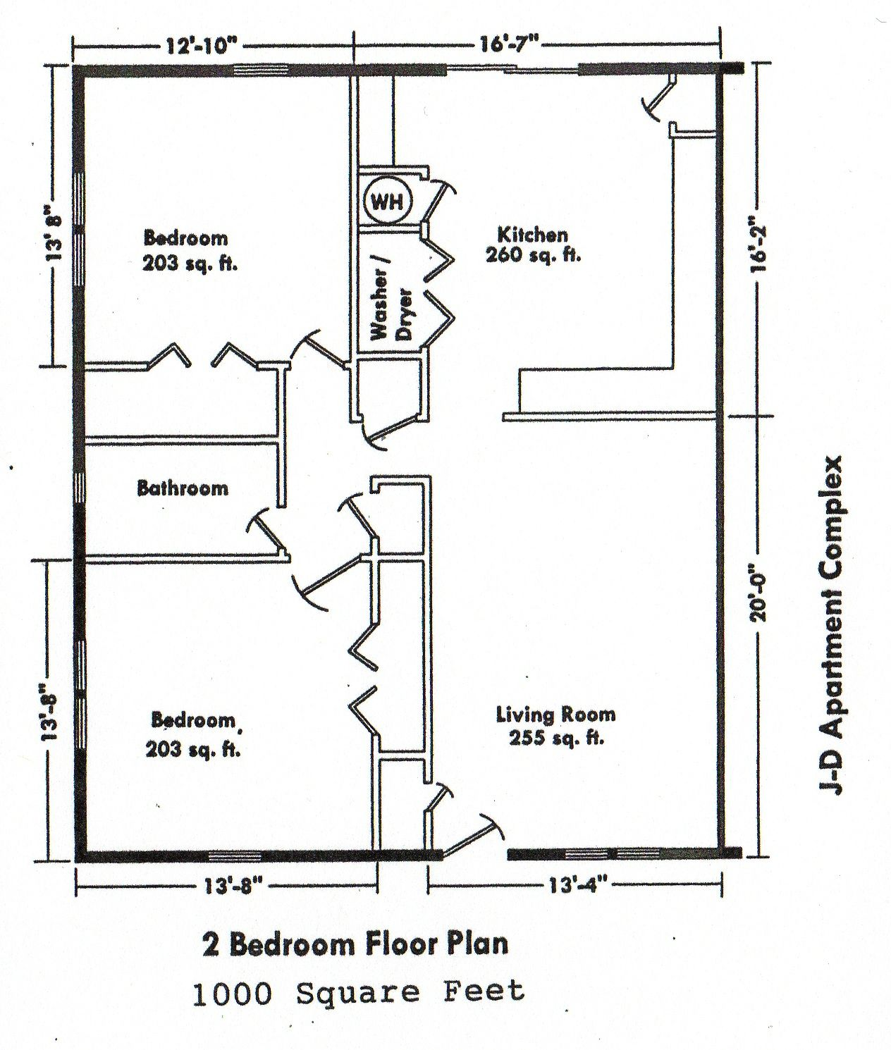 Small House Floor Plans 2 Bedrooms