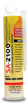 SA-2100 readily bonds to some surfaces with little preparation while in other cases the surface must be properly prepared. Regardless, all surfaces must be clean, dry and free from oil or grease. We urge the user to test the product for adhesion himself for critical applications. SA-2100 bonds to all woods, stainless steel, mild steel, polycarbonate (Lexan) and plastic laminate countertops, epoxy and polyester resins with no special surface preparation beyond the above.