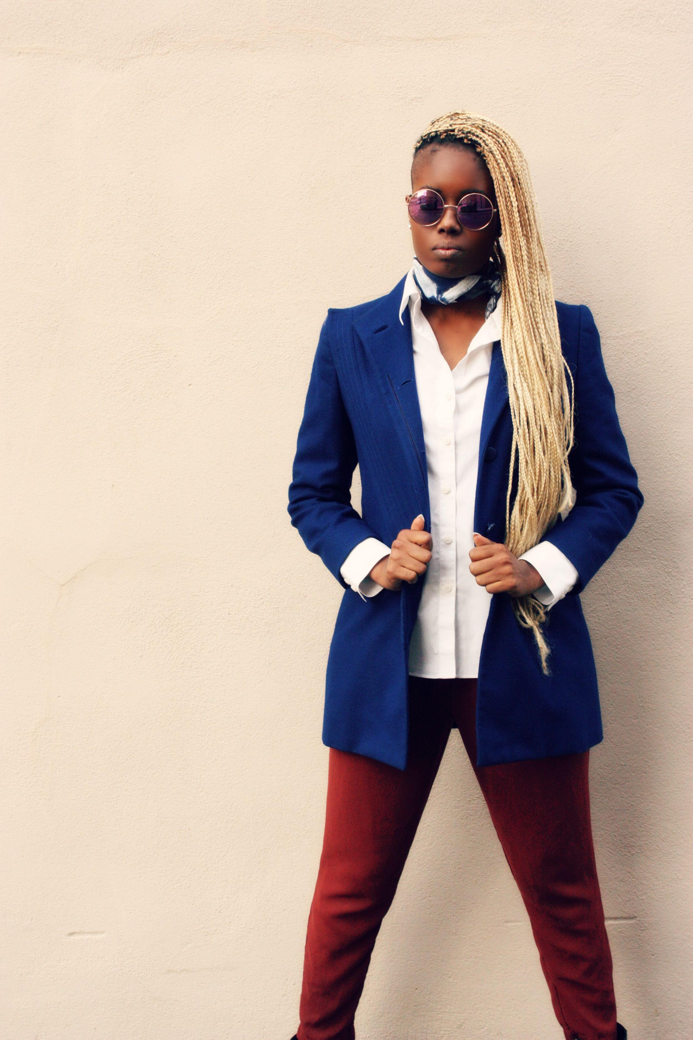 Blonde box braids on black girl #baydiangirl