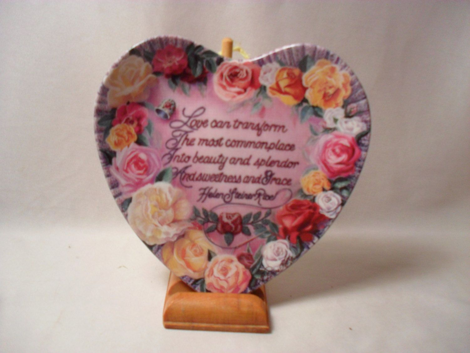 Beauty and Splendor by Renee McGinnis from Loving Hearts Collection Plate by itsfound on Etsy