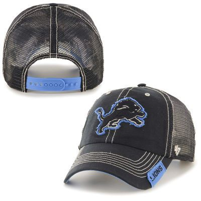 new arrival 45f77 10810 Men s  47 Brand Black Detroit Lions Turner Clean Up Adjustable Hat