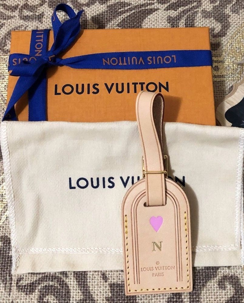 394d651df6 Authentic Louis Vuitton Small Vachetta Luggage Tag - Hot Stamped N and  Heart #louisvuitton #hotstamp #vachetta #luggagetag #lv #lvaddicted  #bagcharm ...