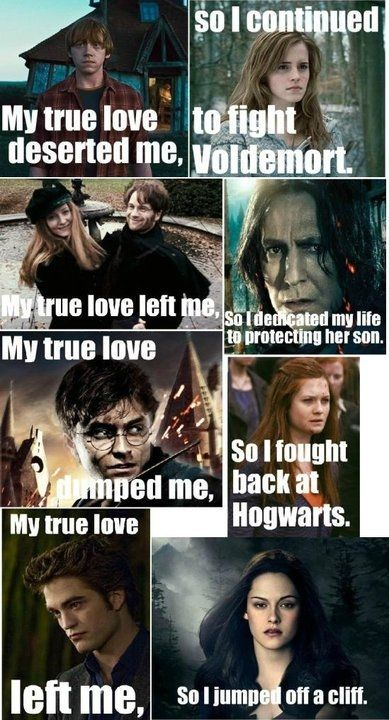 This proves that Harry Potter characters are better at dealing with separation anxiety.