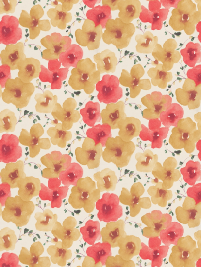 Inari (211661) is taken from Sanderson's Colour for Living wallpaper collection. flowers, art