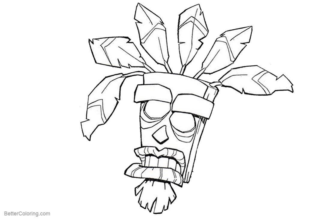Resultat De Recherche D Images Pour Aku Aku Crash Bandicoot Disney Princess Coloring Pages Coloring Pages Crash Bandicoot [ 740 x 1100 Pixel ]