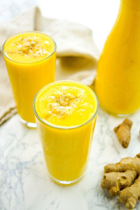 Ingwer-Kurkuma-Ananas Smoothie Rezept, einfach und gesund superfood ...