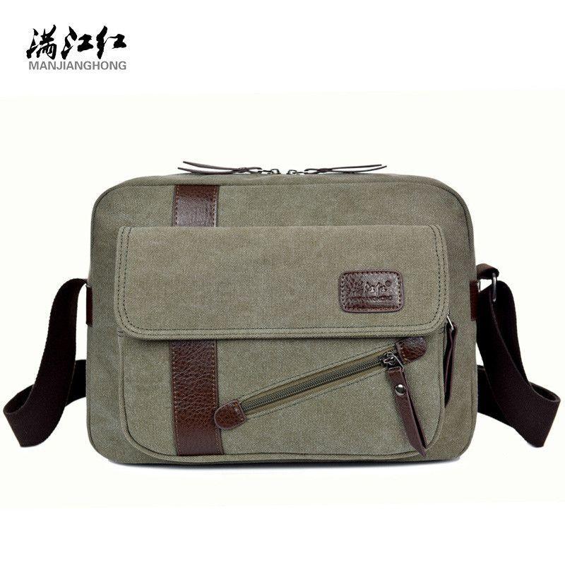 2016 New Men's Fashion Business Travel Shoulder Bags Men Messenger Bags Canvas Briefcase Men Bag Free Delivery 1294
