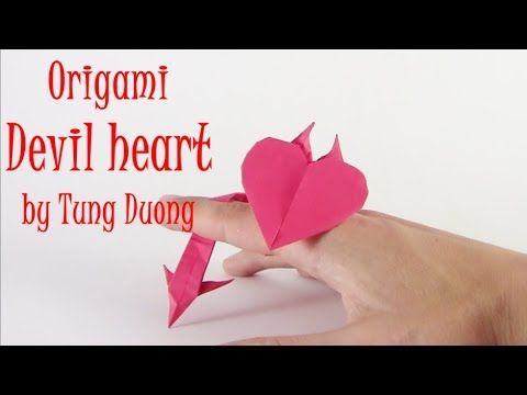 Origami Devil Heart Easy