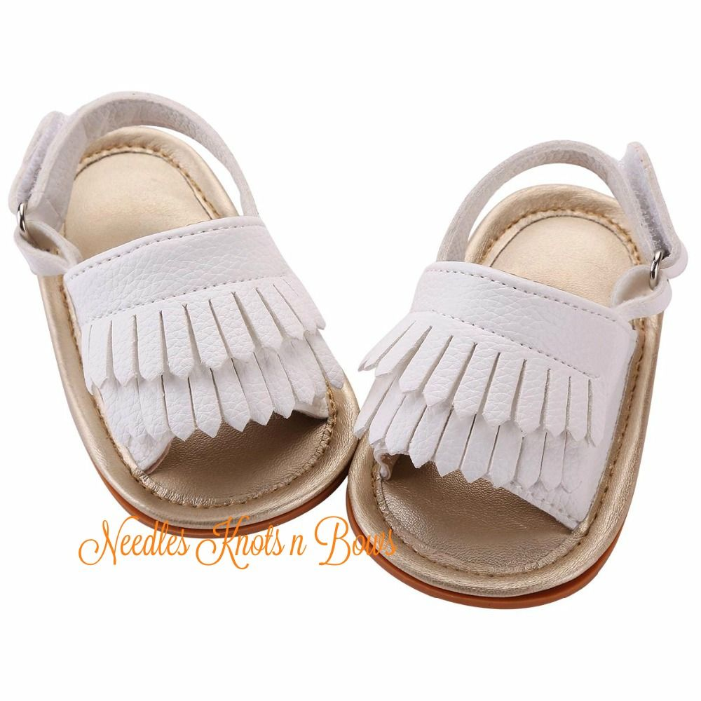 White+baby+girls+moccasin+sandals+with+