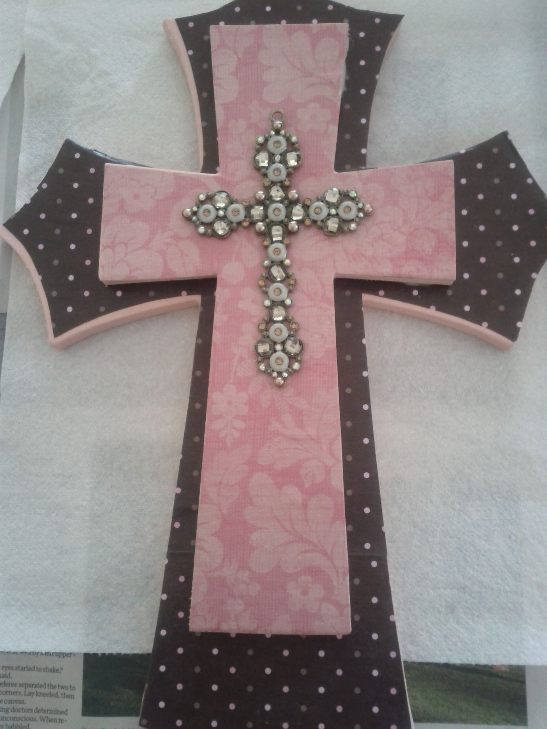 This Is The Diy Wall Cross I Made For Gabbys