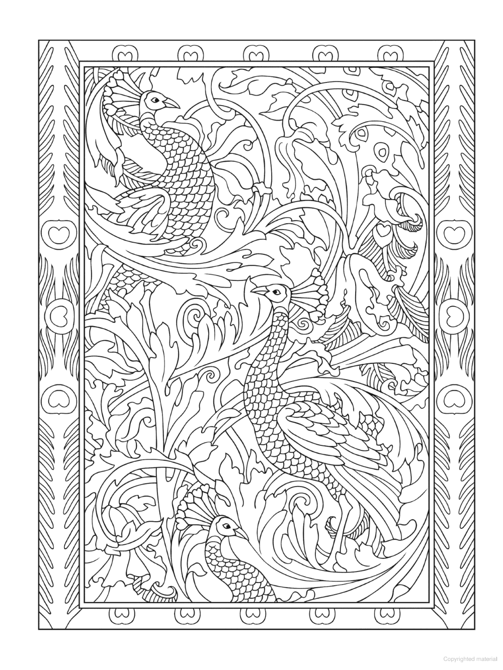 Creative Haven Peacock Designs Coloring Book Designs Coloring Books Persian Art Painting Detailed Coloring Pages