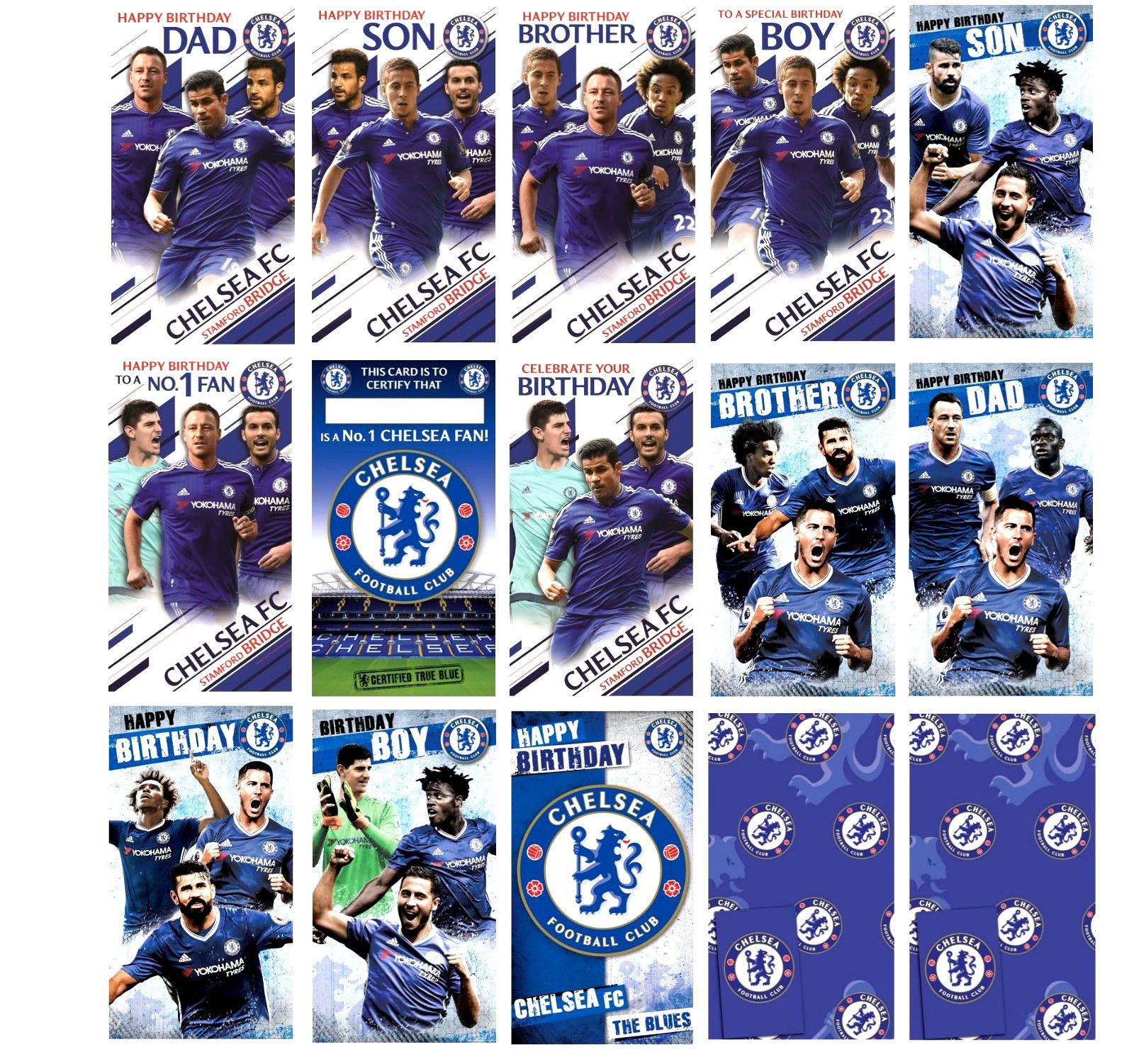 Official Chelsea Football Team Birthday Cards Gift Wrap Dad Brother Son Popu View More On The Link Ht Chelsea Football Team Dad Birthday Football Team