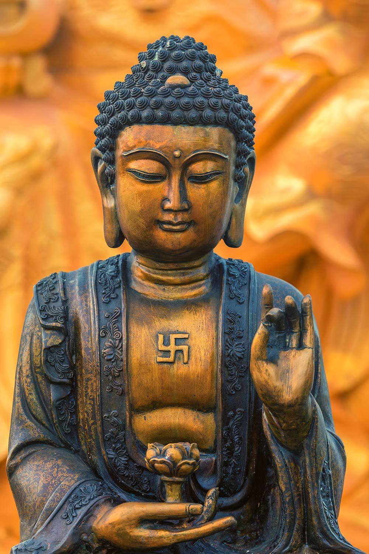 Order Buddha Swastika Wallpaper to create fantastic wall