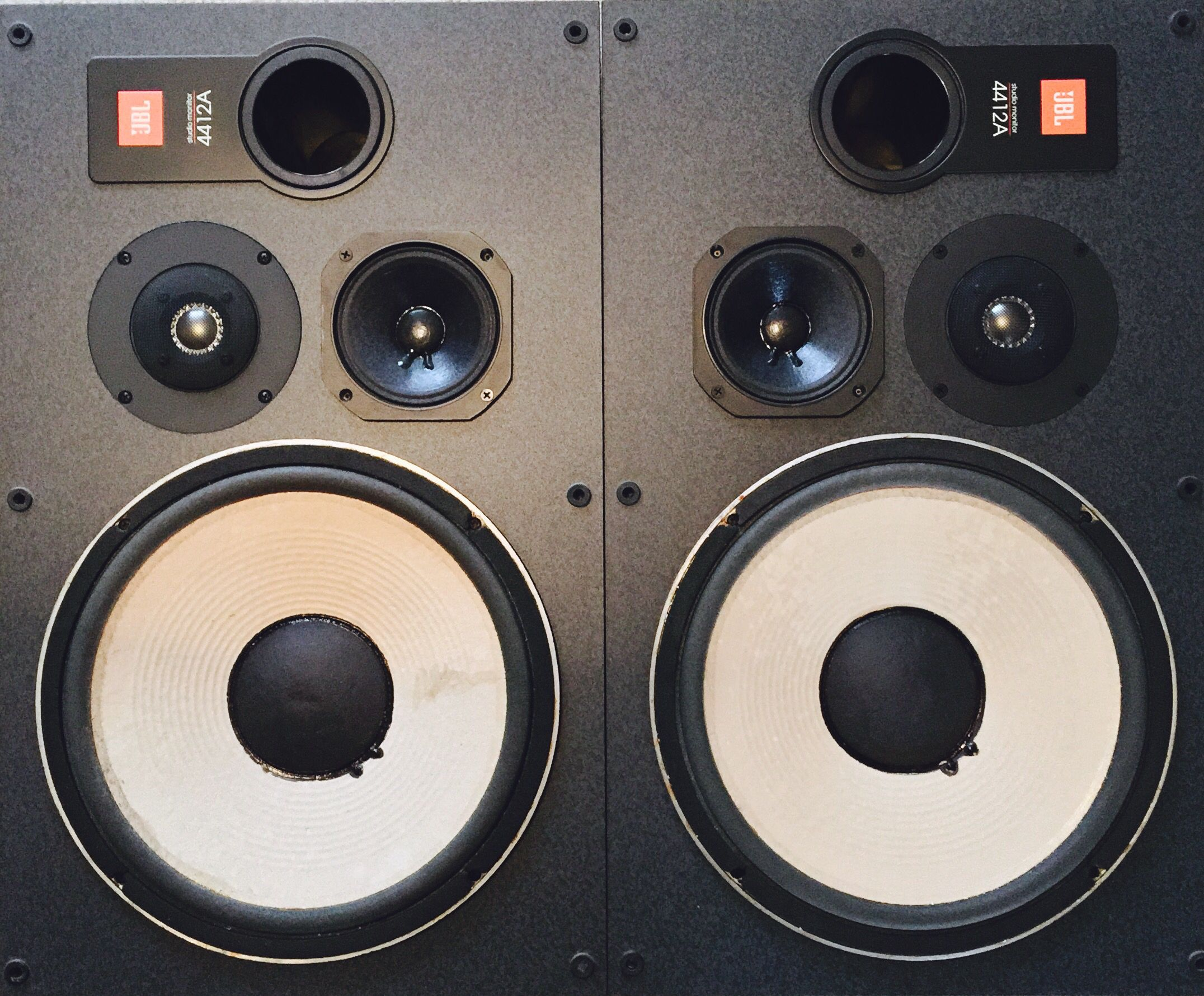 JBL 4412A with 4411 bass drivers fitted  (Temporary until