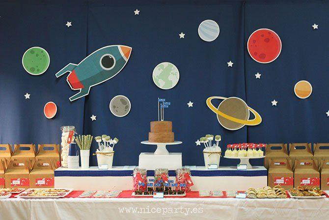 El Cumpleaños Del Espacio Exterior Fiesta Del Espacio Fiesta Espacial Fiesta De Astronauta