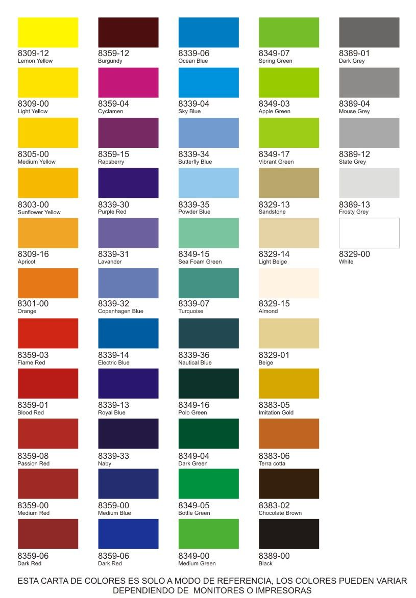 Carta de colores cartas de color pinterest carta de for Gama colores pintura