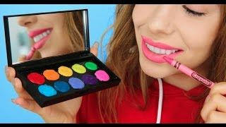 5 Ways To Turn Crayons Into Makeup! - YouTube