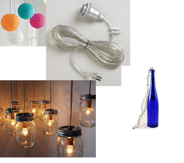 Build Your Own Lamp Kit Swag Hanging Plug In Light Replacement Electrical Cord Kit Lets You Make Your Own Orange Accent Walls Basement Makeover Paper Lanterns
