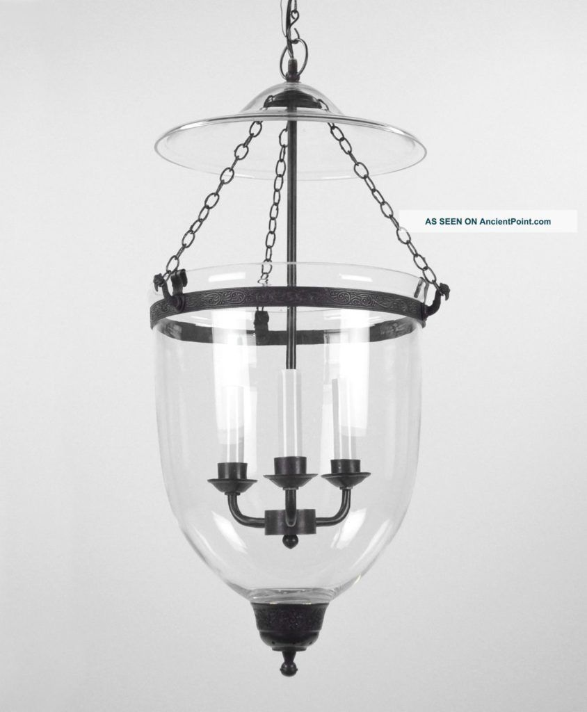 jar lighting fixtures. Large Bell Jar Light Chandelier Pendant Lantern Glass Colonial Old Antique Style Photos And Information In AncientPoint Lighting Fixtures A