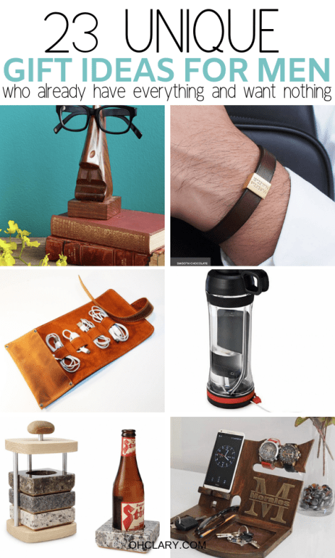 What to get the man who wants nothing