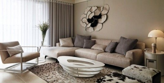 Stylish Neutral Living Room Decorations Ideas
