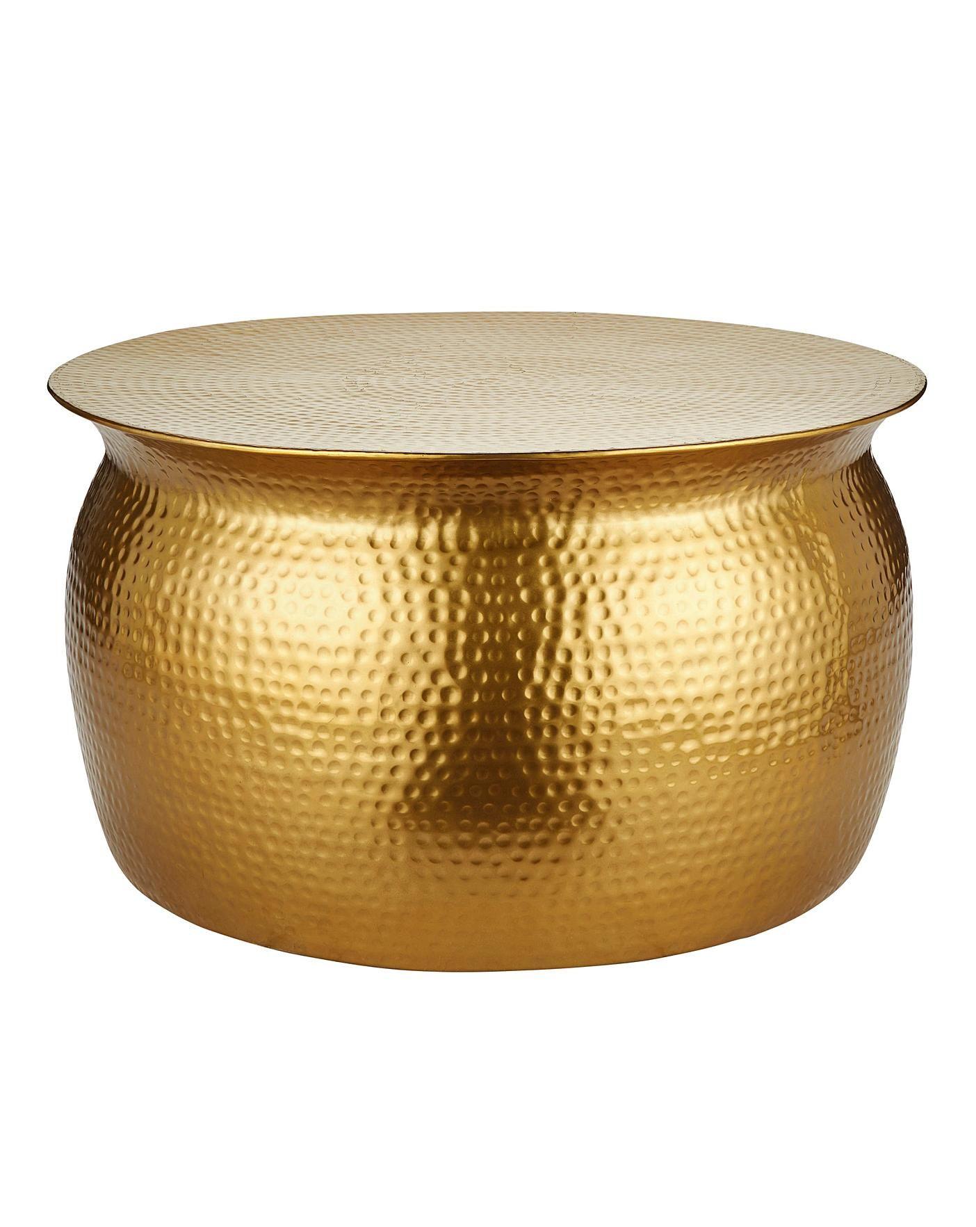 Artisan Hammered Metal Coffee Table In 2020 Metal Coffee Table Hammered Coffee Table Gold Coffee Table