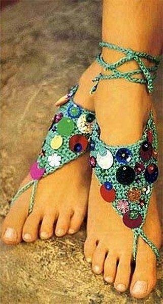 Free Crochet sole less shoe pattern would the shoeless ...