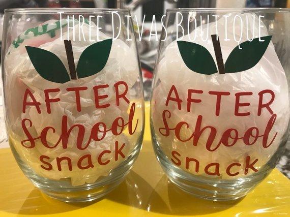Before School After School Wine Glass //mug Decals X 8 Teacher Gift