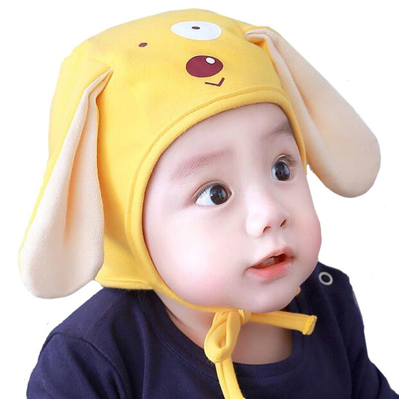 8eb0ed395555aa Cute Baby Hat Cap 4-12 Months Dog Ears Infant Toddler Beanie Cartoon Cotton  Bonnet for Boys Girls ,High Quality Hats & Caps
