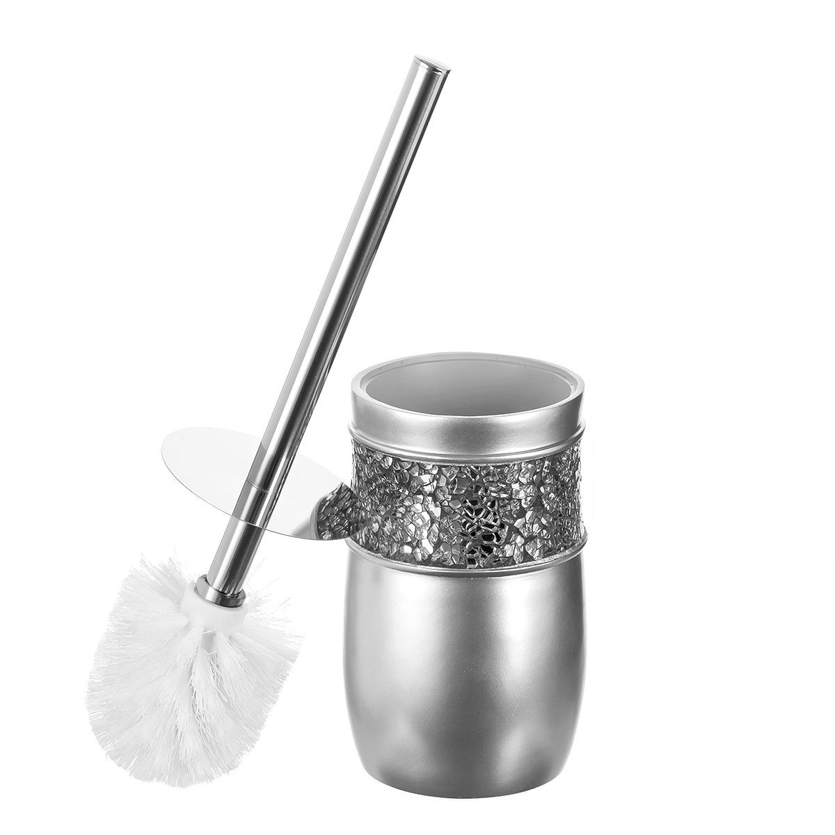 Creative Scents Bathroom Toilet Brush Set Brushed Nickel Collection Good Grip Toilet Bowl Cleaner Bru Toilet Brushes And Holders Toilet Bowl Brush Toilet Bowl