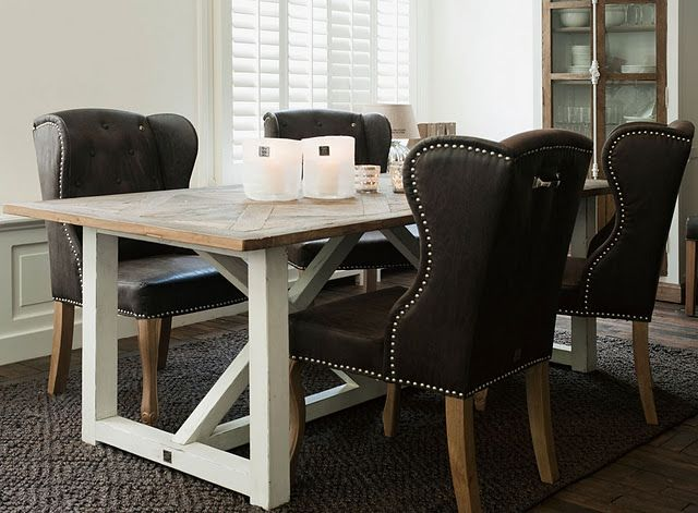 love the chairs with the rustic dining table