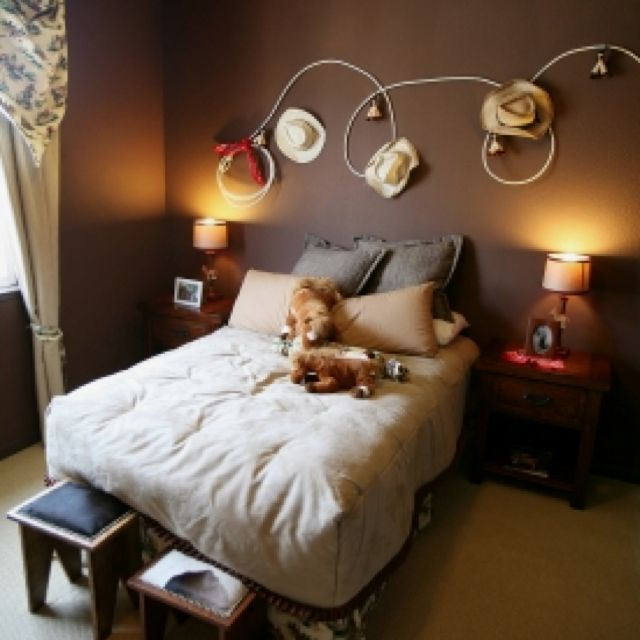 Cowgirl rope hat wall decor home designs pinterest for Cowboy bedroom ideas